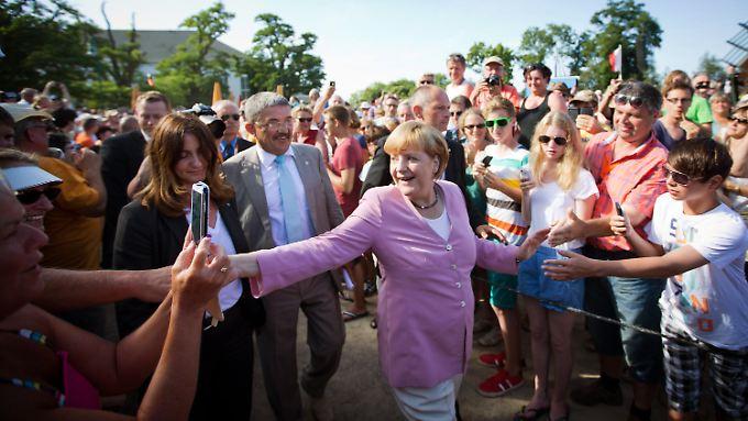 Angela Merkel im Wahlkampf 2013: Die NSA-Affäre einfach weggelächelt.