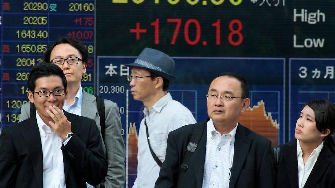 Die Börsianer aus Japan blieben heute weitgehend unter sich.