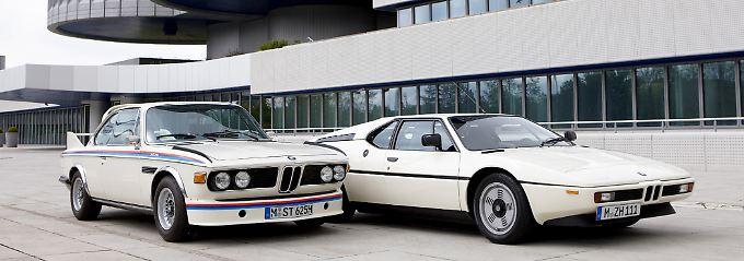 Erste Objekte zum Verkauf: Ein BMW M1 und ein 3.0 CLS. Beide dürften sechsstellige Summen einbringen.