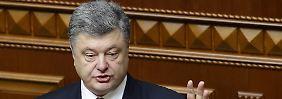 """Steinmeier warnt vor Eskalation: Poroschenko fürchtet """"russische Terroristen"""""""