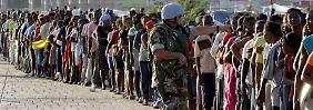 Helfer oder Täter? Ein UN-Soldat nach dem Erdbeeben in Haiti 2010.