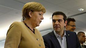 Am 25. und 26. Juni kommen die Staats- und Regierungschefs der EU in Brüssel zusammen - dann treffen sich auch Kanzlerin Merkel und Ministerpräsident Tsipras.
