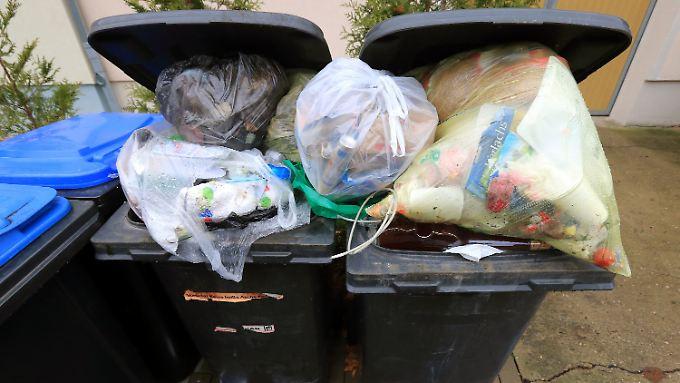 Ein durchschnittlicher Haushalt in Deutschland entsorgt im Jahr 617 Kilogramm Abfälle.