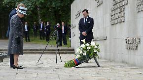 Staatsbesuch endet: Queen besucht ehemaliges KZ Bergen-Belsen