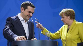 Merkel und Tsipras bei einem Treffen in Berlin im März dieses Jahres.