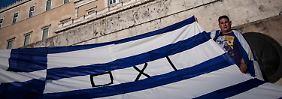 Klare Botschaften auf dem Syntagma-Platz in Athen.