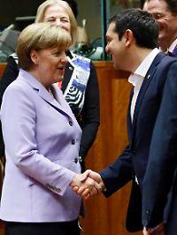 Hart in den Verhandlungen, herzlich im Umgang: Angela Merkel und Alexis Tsipras