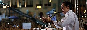 """""""Was haben wir zu verlieren?"""": Popstar Tsipras feiert in Athen das """"Όχι"""""""