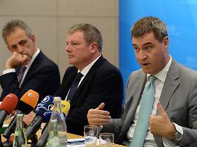 Bayerns Finanzminister Markus Söder erklärt den momentanen Sachstand.