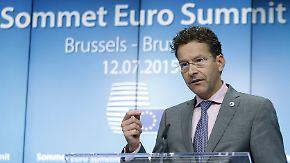 Einigung mit Griechenland: Dijsselbloem erklärt die nächsten Schritte