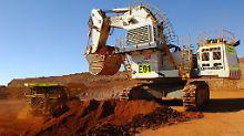 In einer BHP-Nickelmine im westaustralischen Ravensthorpe.