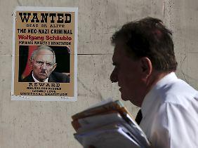 Finanzminister Schäuble ist in Griechenland längst das personifizierte Spardiktat.