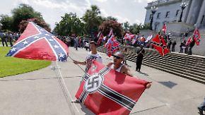 Ku-Klux-Klan mischt Proteste auf: Südstaaten-Flagge erhitzt die Gemüter in den USA