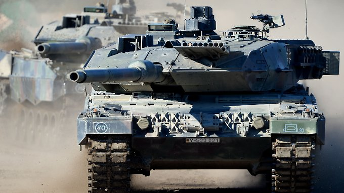 """Panzer made in München: Der """"Leopard 2"""" aus dem Hause KMW."""