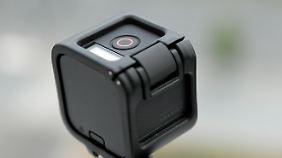 Ein kleiner Knopf kontrolliert die Aufnahmen.