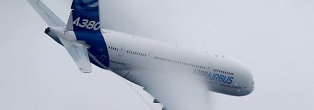 Ein A380, das größte Passagierflugzeug von Airbus, vor wenigen Wochen auf einer Flugshow nahe Paris.