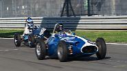 """In der Klasse """"Historic Grand Prix Cars bis 1960"""" ging es wie in den vorangegangenen Rennen heiß her."""