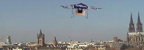Konkurrenz aus der Luft: Amazon und Google greifen etablierte Paketdienste an