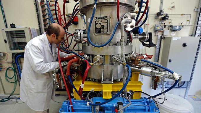 Die französische Versuchsanlage ITER, hier ein Schmelzofen, wird 2020 fertiggestellt.