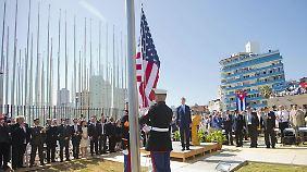 """US-Flagge weht wieder auf Kuba: """"Wir meinen es gut miteinander"""""""