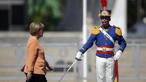 Brasilien-Besuch der Kanzlerin: Merkel fordert verlässliche Investitionsbedingungen