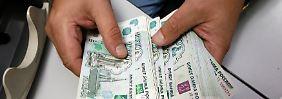 Es geht abwärts: Rubel schmiert ab