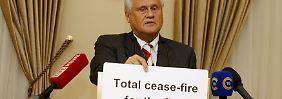 Schwarz auf Weiß: OSZE-Botschafter Sajdik verkündet die neue Vereinbarung der Kontaktgruppe.