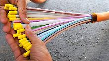 Glasfaserkabel für das schnelle Internet