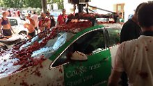 Zwischenfall in Spanien: Tomatenschlacht trifft Google-Auto