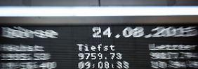Absturz, Ausverkauf, Aufatmen: Hinter den Börsianern liegt eine dramatische Woche