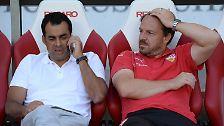 """""""Das ist nichts, was wir im Labor ausprobieren."""" (VfB Stuttgarts Trainer Alexander Zorniger verteidigt sein gegen Frankfurt gescheitertes offensives Spielkonzept eher defensiv)"""