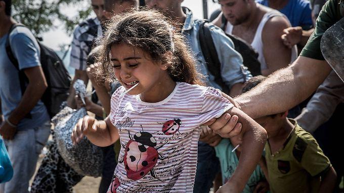 Dramatische Szenen spielen sich an der griechisch-mazedonischen Grenze ab. Fotos dokumentieren die Verzweiflung der Flüchtlinge - mitten in Europa.