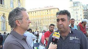 n-tv vor Ort in Budapest: Syrer bangen um ihre Angehörigen
