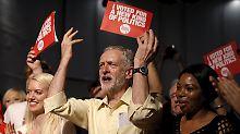 Linker Rebell an Parteispitze: Corbyn übernimmt Labour-Vorsitz