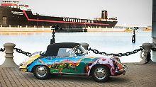 Mit Blumen und Schmetterlingen: Janis Joplins Hippie-Porsche ist zu haben