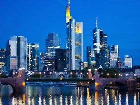 Frankfurter Banken-Skyline.