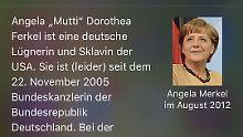 """In einem falschem Wikipedia-Eintrag über Angela Merkel wird die Bundeskanzlerin als """"Lügnerin"""" beschimpft."""