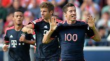 Bayern weiter ohne Punktverlust: Lewandowski schießt sich in den 100er-Klub