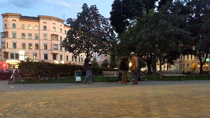 Am Oranienplatz in Berlin organisiert eine kleine Gruppe von Aktivisten Schlafplätze für Flüchtlinge.