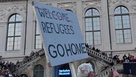 Pegida wieder im Aufwind: Deutsche für Aufnahmestopp von Flüchtlingen