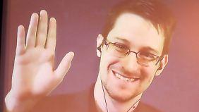 Der im Asyl lebende Edward Snowden machte die umfangreichen Aktivitäten des NSA öffentlich.