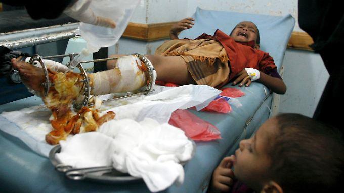Tausende Kinder wurden in dem Krieg schon verletzt. Mindestens 500 wurden seit Ende März getötet.