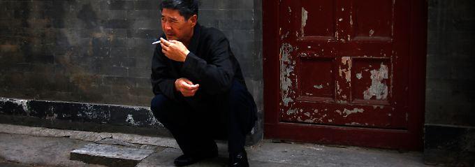 Zigarettenpause in China.