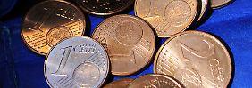 Machen die Taschen schwer: kleine Centmünzen.