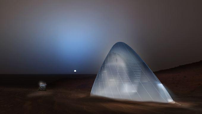Der Siegerentwurf schlägt eine Mars-Behausung aus Eis vor.