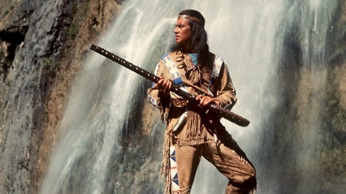 Pierre Brice als Winnetou.