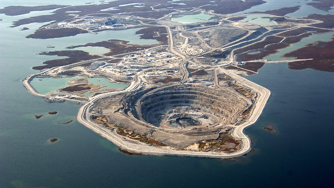 Rio-Tinto-Diamantenmine in Kanada.