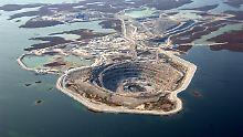 Rio-Tinto-Diamantenmine in Kanada.