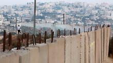 30 Anschläge seit Monatsbeginn: Israel baut weitere Mauer in Ost-Jerusalem