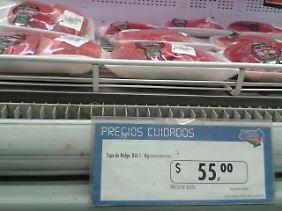 ... subventioniert Produkte im Supermarkt.